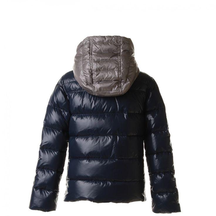 Fay Junior - Piumino In Nylon Bicolor Blu E Grigio - annameglio.com shop online #annameglio #outwear #AI15 #outfit #fashion #kids #shoponline #boutique #fay #piumino #teenager