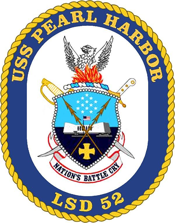 USS Pearl Harbor (LSD 52) Ship Crest
