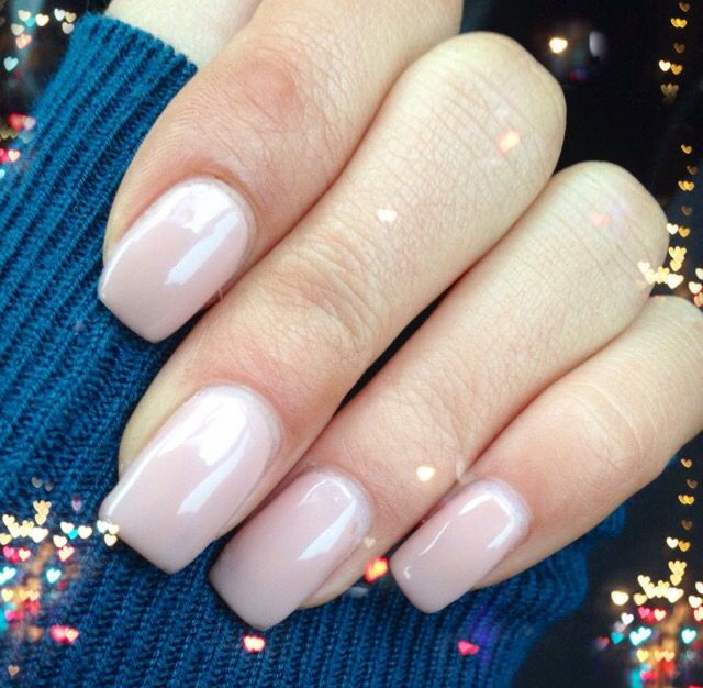 Nude nails square top simple gel nails