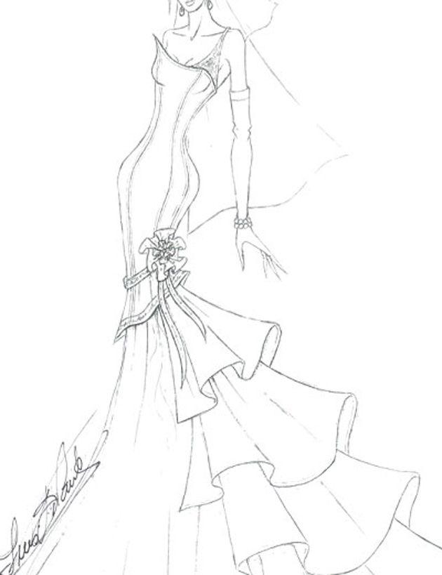 En fotos: bocetos para el vestido de boda de Miley Cyrus ¿Qué diseño escogerá?