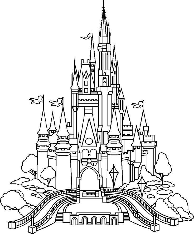 Cinderella Castle Outline | Castle of Disney World - Click Image to Close