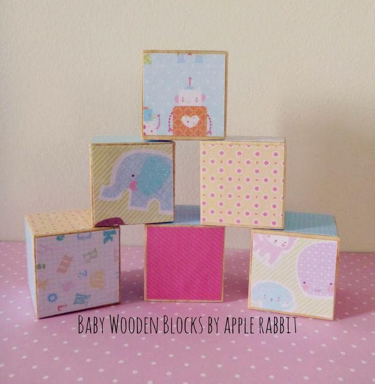 Handmade baby wooden blocks