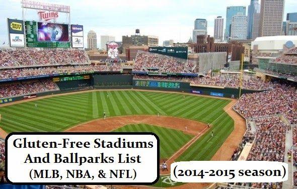#GlutenFree Stadiums And Ballparks List (MLB, NBA, & NFL) 2014 - 2015 Season