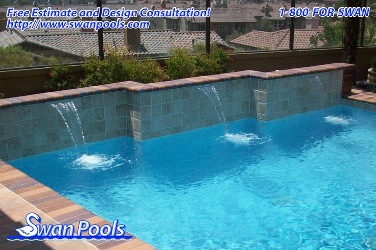 39 best images about swan pools sheer descents rip rap for Quality pool design