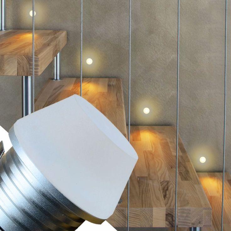 LED Treppenbeleuchtung Einbauspot Einbaustrahler Spot Wegbeleuchtung 1V in Heimwerker, Lampen & Licht, Einbauleuchten | eBay!