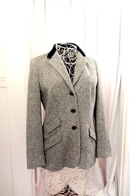 Vintage Ralph Lauren jacket, herringbone jacket, RL country jacket, country style jacket, Ralph Lauren country,Ralph Lauren woman, by lovesknitting on Etsy
