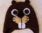 Beaver Hat - Crochet Beaver Hat - Beaver Hat for Boys - Busy Beaver Hat - Crochet hat for Boys - Beaver Hat - Crochet Beaver - pinned by pin4etsy.com