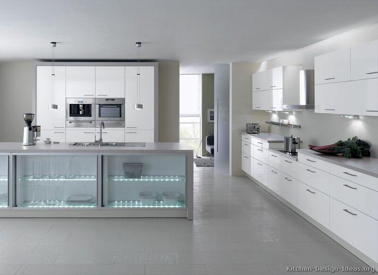 Modern White Kitchen Cabinets  #TT214 (Alno.com, Kitchen-Design-Ideas.org)