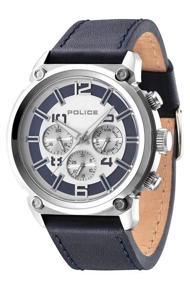 Police  Armor Watch Gents Watch | Black Leather Strap