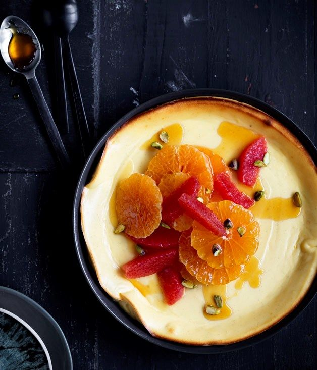 Think of it as a crustless baked cheesecake.