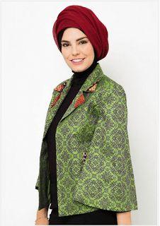 busana muslim cardigan songket terbaru 2016