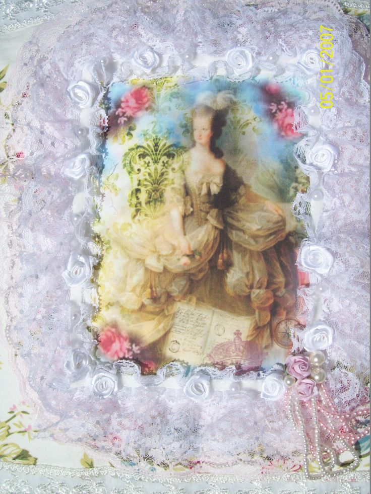 Close up of center of Marie Antoinette pillow by Corinea Neil.