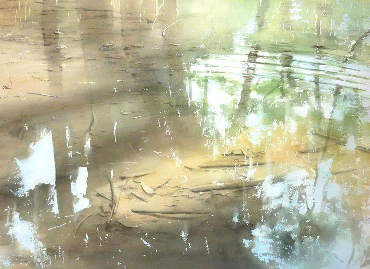 """Abe Toshiyuki """"Minamo"""" Watercolor, 2014"""