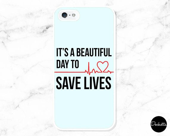 ~ FREE UK DELIVERY FOR LIMITED TIME ONLY ~  DOCKOTTA CASE  Greys Anatomy Quote iPhone & Samsung Case - Its A Beautiful Day To Save Lives  This themed iPhone case is a ideal gift or purchase for any fan of the film. With a sleek design on the gloss case, not only will this item protect your phone but add a whole new layer of style to your device.  FAQS  Do You Ship Internationally?  Yes, Dockotta ships all products worldwide.