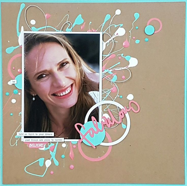 Layout created for Scrapbooking Memories Masters Competition Honrable Mention was received