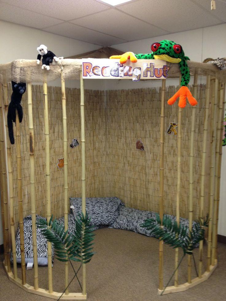 Pre k possibilities classroom organization room decore for Jungle themed playroom