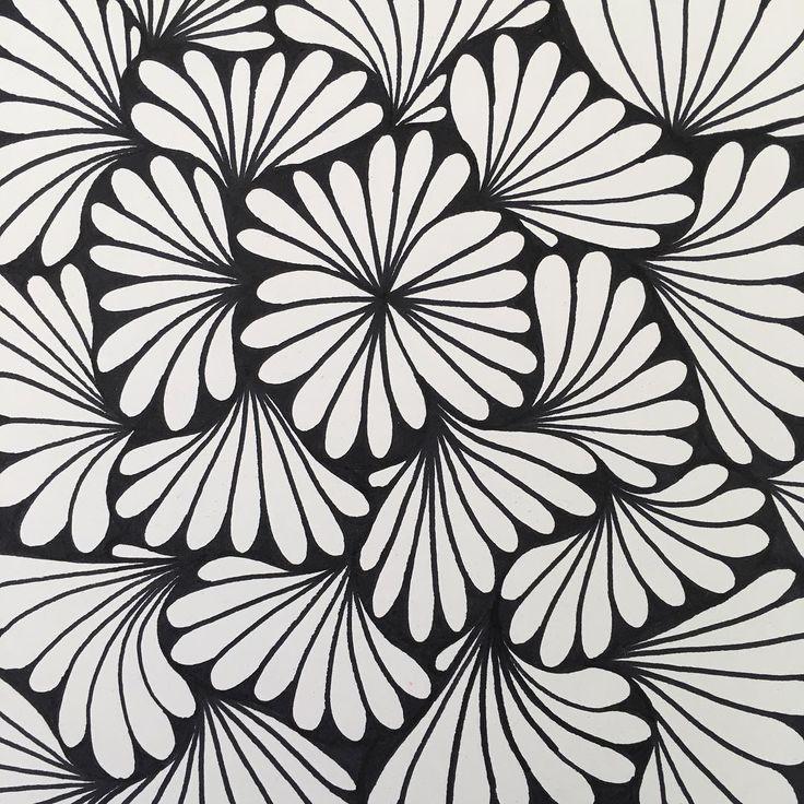 easy zentangle zen doodle perla simple leavy doodles drawings
