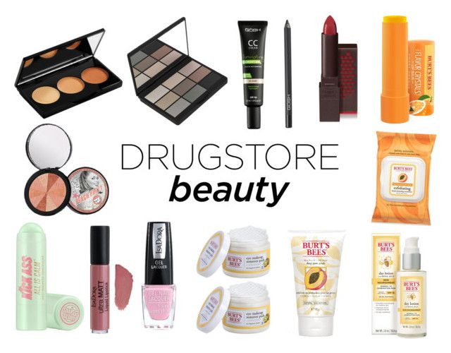 """""""Beauty on a Budget: Drugstore Beauty"""" by gothicvamperstein on Polyvore featuring beauty, Burt's Bees, Gosh, Soap & Glory and drugstorebeauty"""
