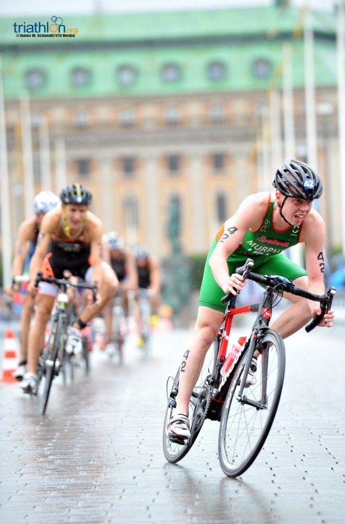 World Triathlon Stockholm conor murphy bike corner