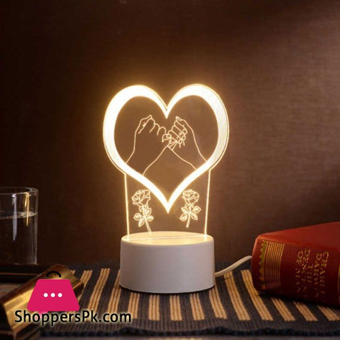 Buy The Neon Lights 3d Stereo Night Light Small Table Lamp At Best Price In Pakistan In 2020 Small Table Lamp Night Light 3d Night Light