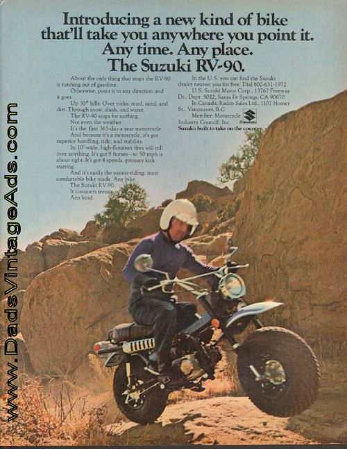 1972 Suzuki RV-90 – it'll take you anywhere you point it