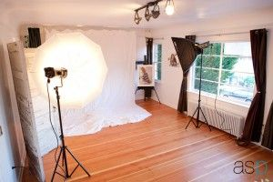 Think I am going to do over one of my spare bedrooms like this.... :) photography studio