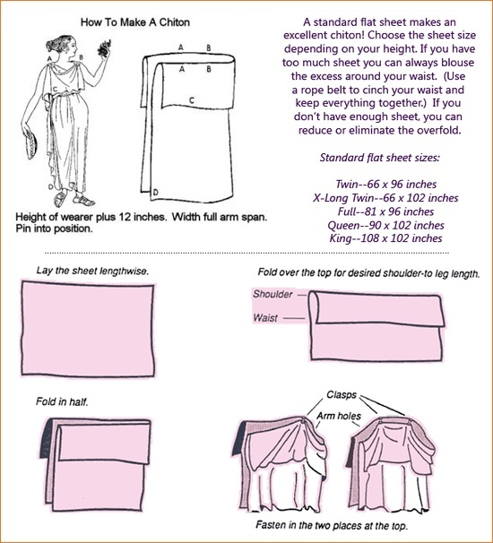 Chiton Costume | Masquerade / how to make a greek chiton costume easily