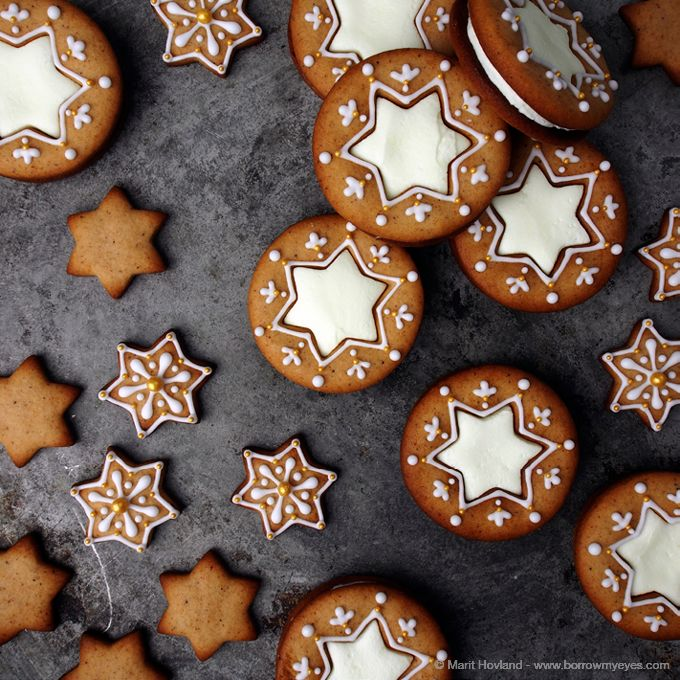 filled gingerbread stars