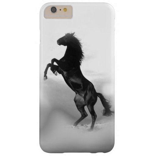 Black White Rearing Horse Silhouette