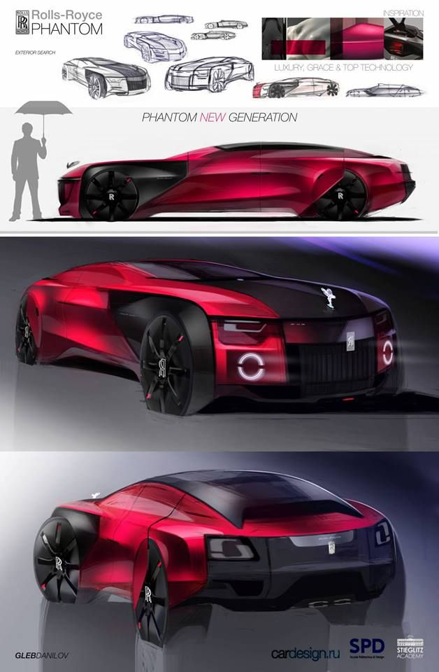 Gleb Danilov - Rolls Royce Sketch