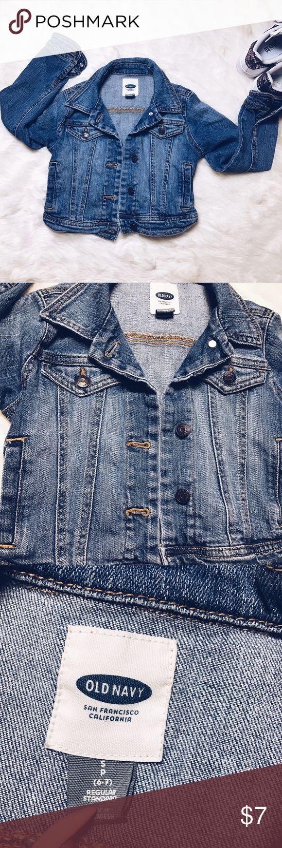 Old navy jeans jacket girls size 6-7 From my daughters closet. Jeans jacket from old navy ✨Good condition . No tears , stains or marks . 🌪Rated Fast shipper . If too late then always following Morning ☀️ Old Navy Jackets & Coats Jean Jackets