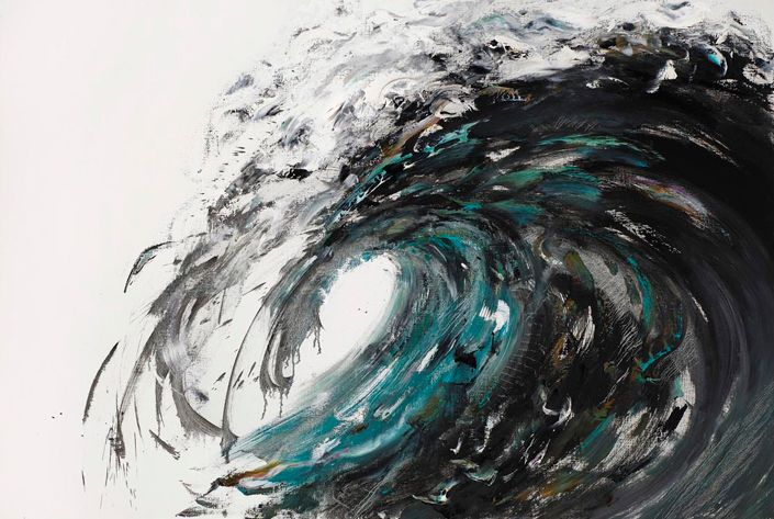wave-breaking-march. Painting the Sound of the Sea - Curious Peeps