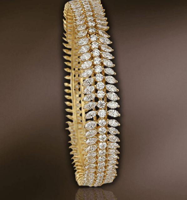 broad diamond bangle