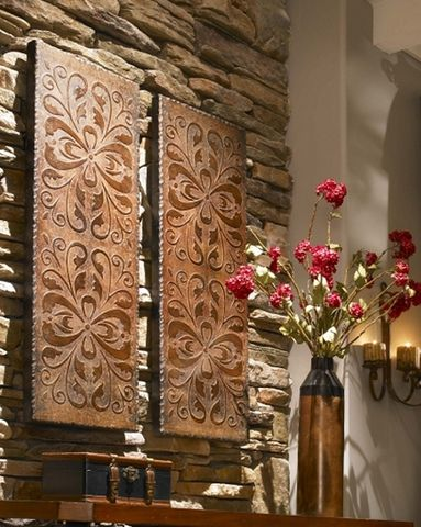 Uttermost 13643 Alexia Panels, S/2 . Tuscan Decor.