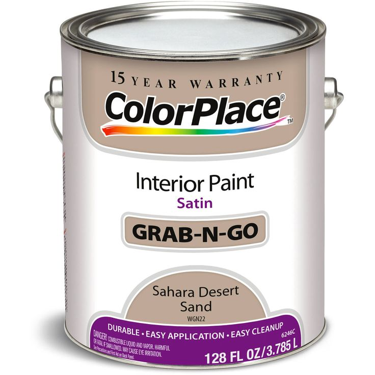 colorplace grab n go interior paint satin finish sahara dessert sand 1 gallon interiors. Black Bedroom Furniture Sets. Home Design Ideas