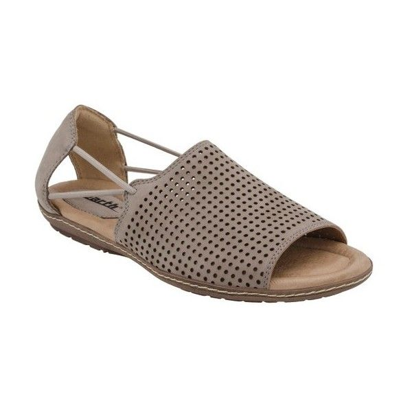 Women's Earth Shelly Sandal (125 CAD) ❤ liked on Polyvore featuring shoes, sandals, taupe soft buck, arch support shoes, open toe shoes, earth sandals, cushioned shoes and taupe shoes