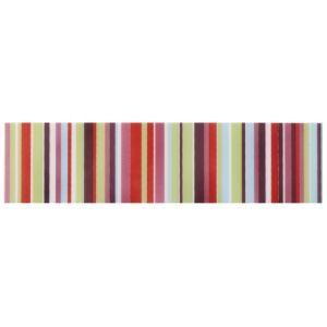 Colours Barcode Pink Striped Ceramic Border Tile Barcode Pink Striped Ceramic Border Tile (L)200mm (W)50mm.This border tile is ideal for kitchens bathrooms  shower walls. http://www.MightGet.com/april-2017-1/colours-barcode-pink-striped-ceramic-border-tile.asp