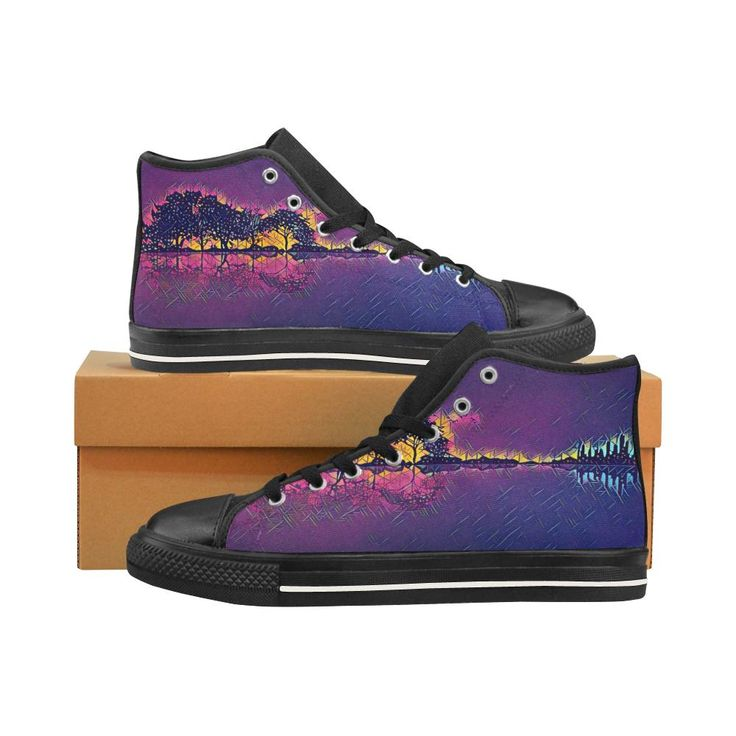 Horizon sky Men's Classic High Top Canvas Shoes /Large Size