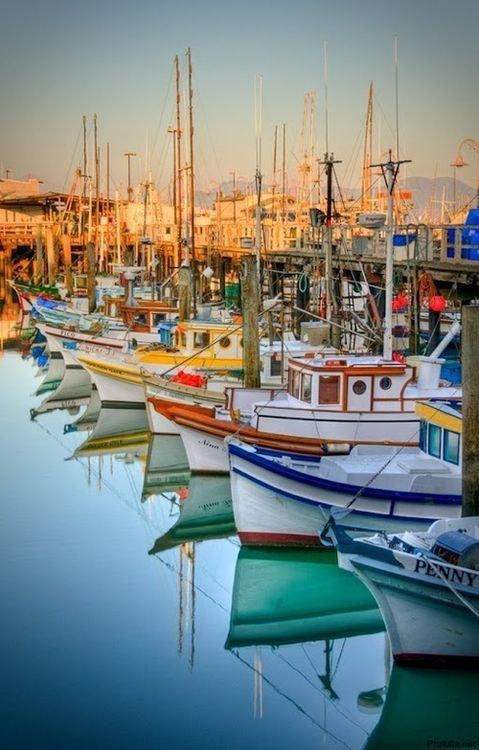Boats in a harbor via: atlanticflow - Imgend #water #reflection