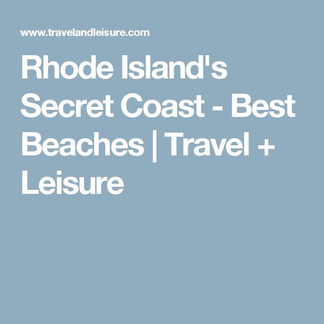 Rhode Island's Secret Coast - Best Beaches | Travel + Leisure