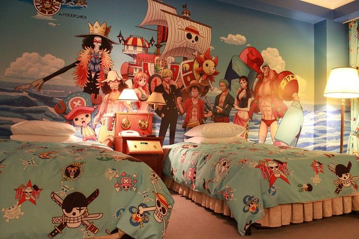 Bedroom With Anime Design Ideas Twin One Piece Bedroom