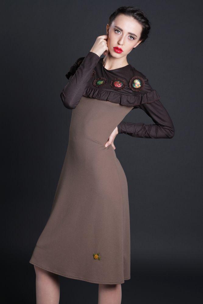 Rochie Granada, jerse bicolor