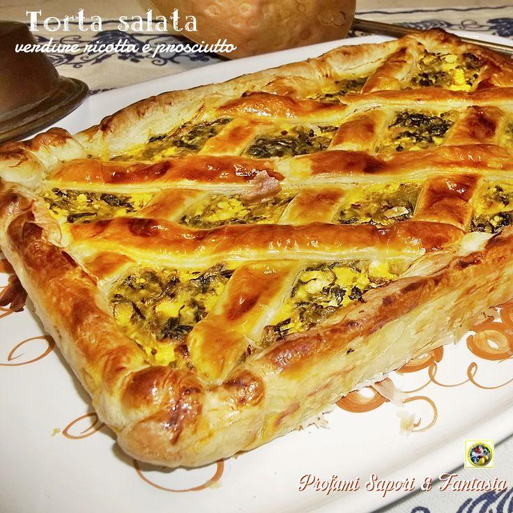 Torta salata verdure ricotta e prosciutto Blog Profumi Sapori & Fantasia