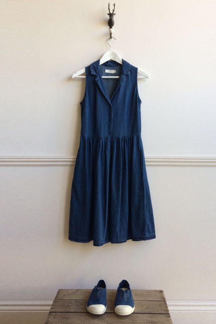a6aab87080 Lola denim tea dress & organic cotton plimsolls.