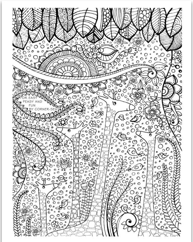 53 best images about adult coloring pages on pinterest for Giraffe mandala coloring pages