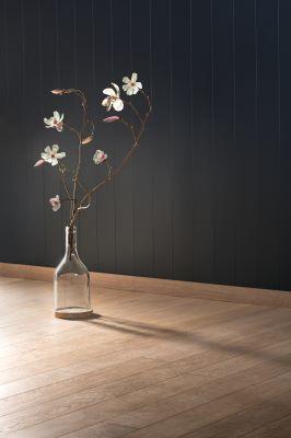 Husk at tre er en fornybar-ressurs som  gir en naturlig varme til rommet. Våre paneler kan bestilles i akkurat den fargen du ønsker. Foto: Einar Breen