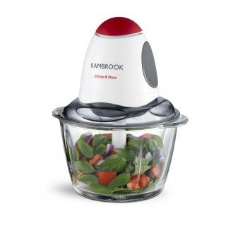 A mini chopper with a glass bowl - perfect for storing leftovers.