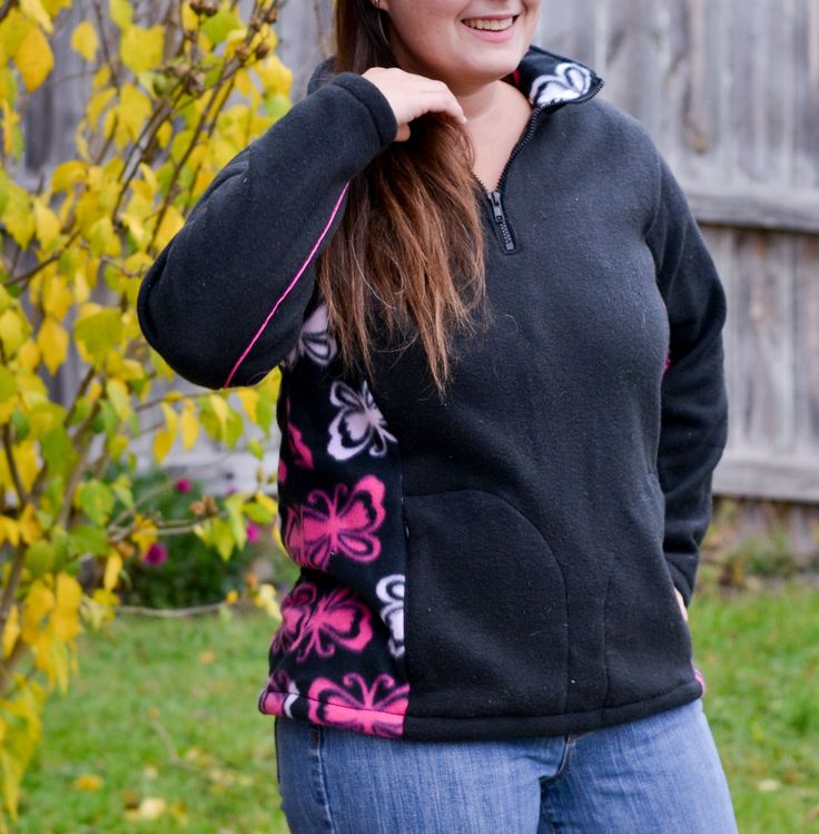 Pdf Sewing Pattern For Quarter Zip Fleece Pullover With