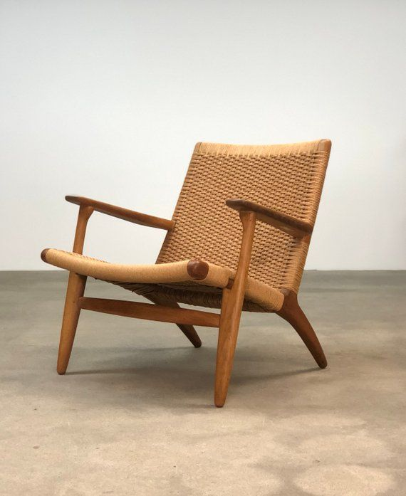 Hans Wegner Ch25 Oak Lounge Chair Danish Modern Hans Wegner Furniture Chair Hans Wegner Chairs