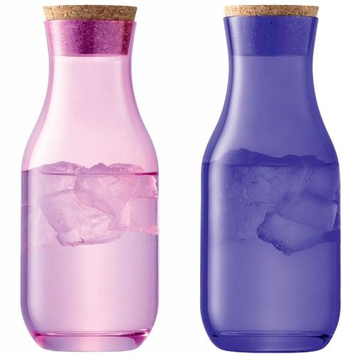 colorful waterbottles